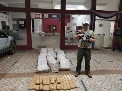 Senad incautó cerca de media tonelada de marihuana en Yby Yaú