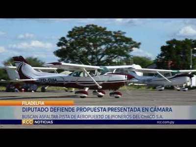 BUSCAN ASFALTAR PISTA DE AEROPUERTO DE PIONEROS DEL CHACO S.A