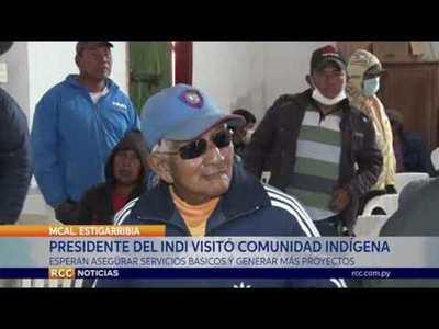 PRESIDENTE DEL INDI VISITÓ COMUNIDAD INDÍGENA DE BOQUERÓN