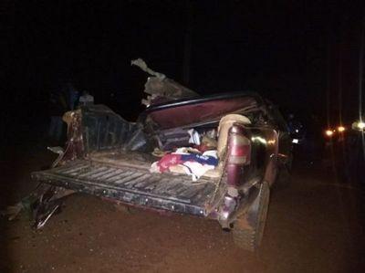 Dos personas mueren en un accidente de tránsito en Alto Paraná