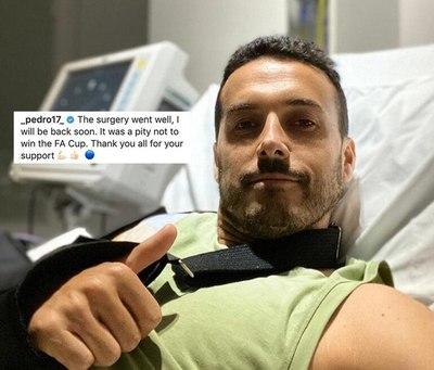 Pedro fue operado del hombro antes de partir a la Roma
