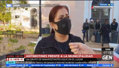 HOY / A través de una orden judicial se pudo despejar el acceso a la Municipalidad de Concepción