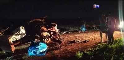 Registran dos fallecidos y cuatro heridos en violento accidente de tránsito – Prensa 5