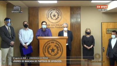 Senadores de la oposición pretenden bloquear intervención a municipios no colorados