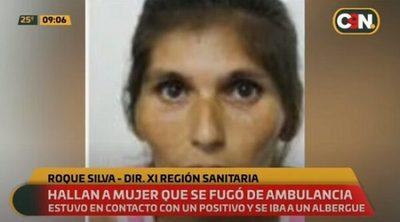Detienen a mujer que se fugó de ambulancia