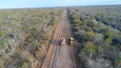 Alto Paraguay: Agua Dulce ya cuenta con los primeros 15 kilómetros de ripio en ruta PY16