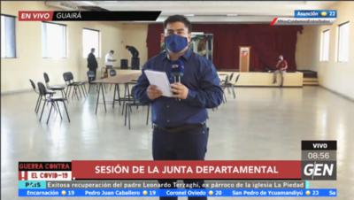 HOY / En instantes inicia la sesión de la Junta Departamental de Guairá