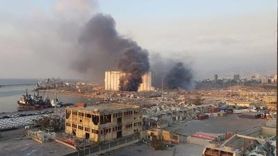 Explosión de gran magnitud en Líbano llena de impactantes videos las redes