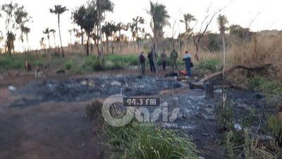 Mujer muere calcinada durante un incendio en zona rural de Pedro Juan