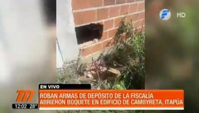 Delincuentes roban armas de fuego de depósito de Fiscalía