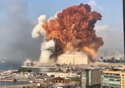 (VIDEO) Feroz explosión en Beirut, Libano