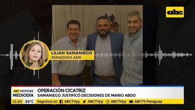 Lilian Samaniego justificó la Operación Cicatriz