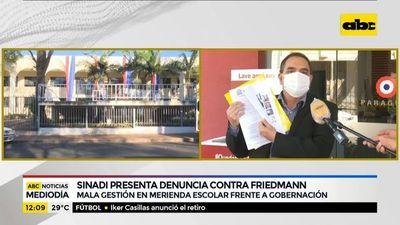 Sinadi presenta denuncia contra Friedmann