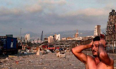 Beirut: Impactante onda expansiva de explosión