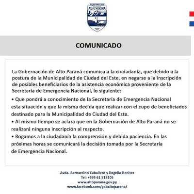 """Miguel Prieto se niega a realizar inscripciones y """"pasa la pelota"""" a la Gobernación"""