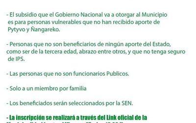 Habilitan link para inscripción para subsidio de la SEN en Franco