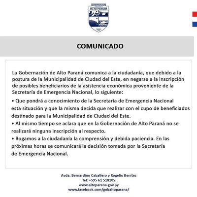 En plena crisis, Prieto y Vaesken se niegan a realizar inscripciones para subsidio de la SEN
