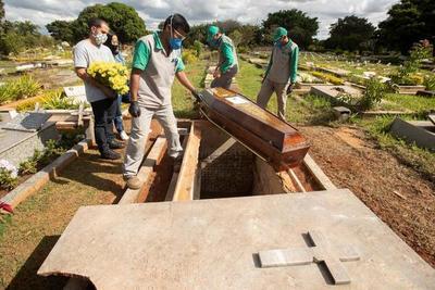 Brasil suma 1.154 nuevas muertes por COVID