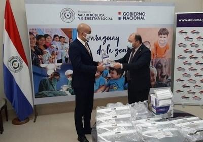 Aduanas donó 40.000 tapabocas al Ministerio de Salud Pública