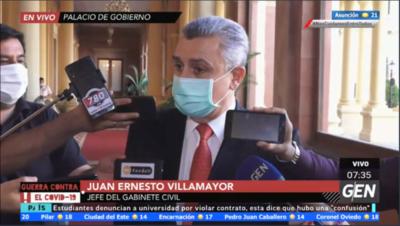 HOY / Juan Ernesto Villamayor, jefe de Gabinete de la Presidencia, sobre el caso Rodolfo Friedmann