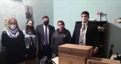 Entregan equipos informáticos en juzgados de Paz de Villa Hayes