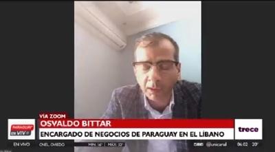No hay reporte de paraguayos afectados por tragedia en Beirut, confirma diplomático