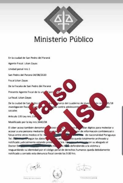 Con documentos falsos de Fiscalía y datos de redes sociales extorsionan