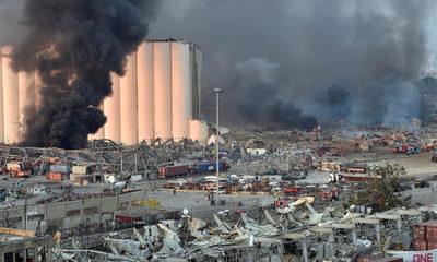 Explosión en Beirut, Líbano: 'El suelo se movió como si fuera un terremoto y el cielo se tiño de negro'
