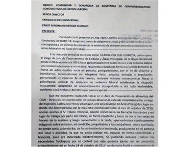Acusan a alto jefe de Itaipú por acoso laboral y sexual