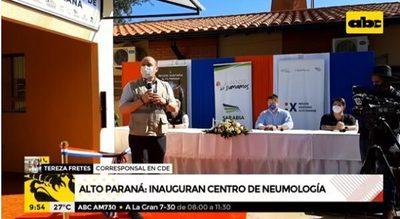 Inauguran centro de neumología en el este con aporte privado