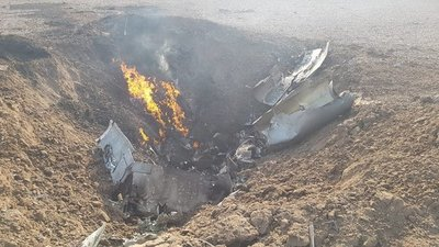 Avión de la Fuerza Aérea Argentina se estrella y el piloto muere