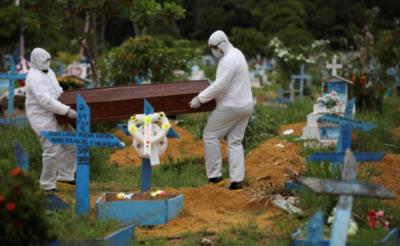 Brasil se acerca a los 100 mil muertos por coronavirus