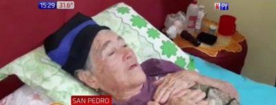Abuelita denuncia brutal maltrato de familiares