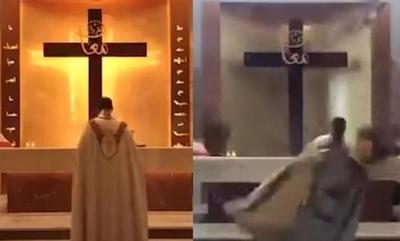 Explosión en Beirut: escombros de una iglesia caen sobre el sacerdote que oficiaba una misa