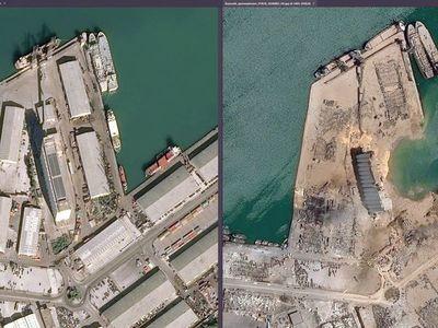 El antes y después de Beirut demuestra la magnitud de la explosión