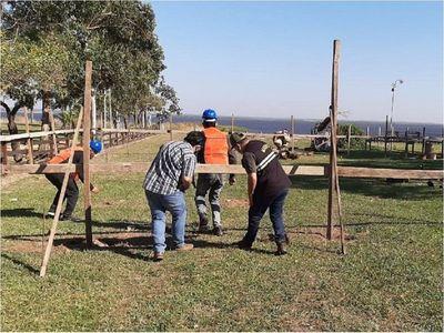 Mades intervino construcción de una vivienda a orillas del Lago Ypacaraí