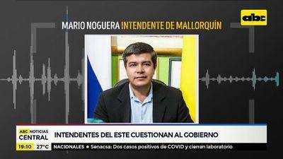 Intendentes del Alto Paraná cuestionan al Gobierno