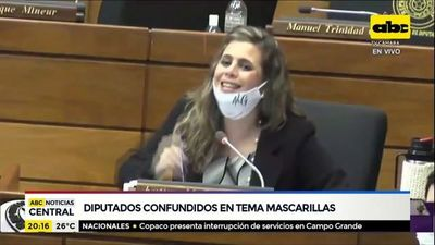 Diputados confundidos en tema uso de mascarillas