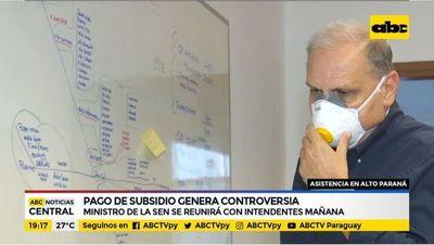 Pago subsidio genera controversias en Alto Paraná