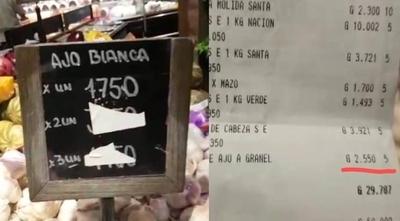 """HOY / Cliente denuncia """"falseamiento"""" de precios en supermercado del Grupo Vierci"""