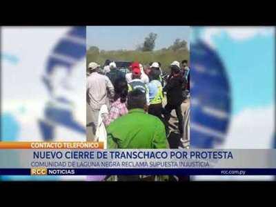 MIEMBROS DE COMUNIDAD INDÍGENA LAGUNA NEGRA CIERRAN RUTA TRANSCHACO