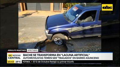 """Bache se transforma en """"laguna artificial"""""""