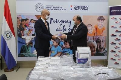 Aduanas dona al Ministerio de Salud tapabocas y protectores