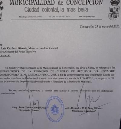 Urbieta no devuelve el millonario desvío de Fonacide en Concepción