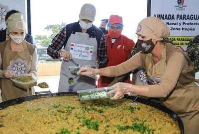 Oficina de la Primera Dama reparte más de 200.000 platos de comida en zonas vulnerables