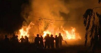 Ypané: Controlan incendio de gran magnitud en un pastizal