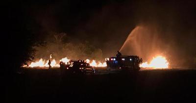 Noche de varios incendios en zona metropolitana
