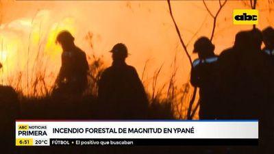 Incendio de gran magnitud en Ypané