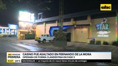 Asaltan casino que operaba de manera irregular en Fernando de la Mora