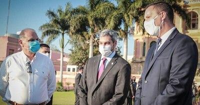 Mario Abdo desarrolla jornada de gobierno en Concepción